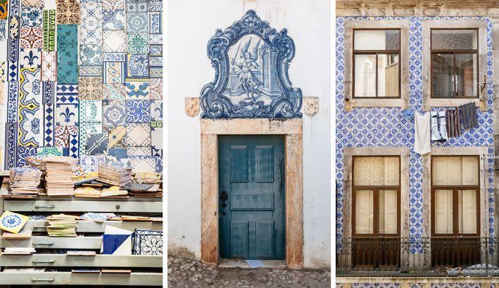 Introduits par les Maures au 13e siècle, les azulejos ne seront produits massivement au Portugal que 200 ans ...