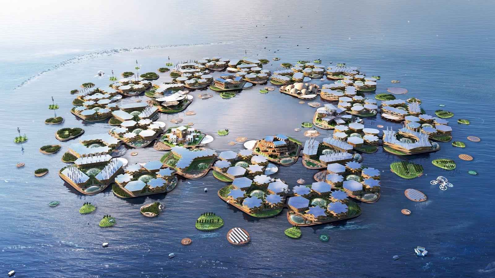 L'entreprise Oceanix propose un concept modulaire pour les villes flottantes du futur.