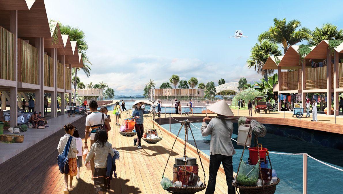 Selon les concepteur, les villes flottantes serait conçues au cas par cas et répondraient à des ...