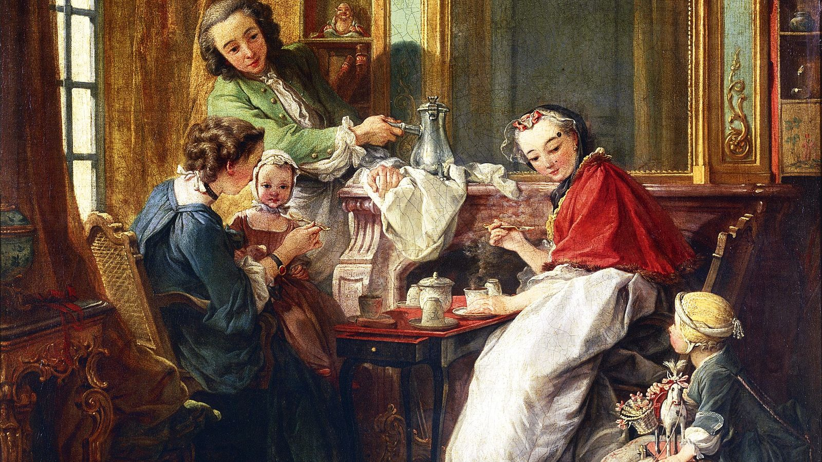 Le chocolat est au menu dans ce tableau du 18e siècle peint par le français François ...