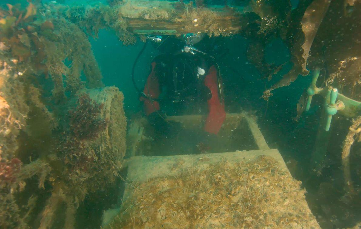 """Exploration d'une épave """"figée dans le temps"""" découverte dans l'Arctique"""
