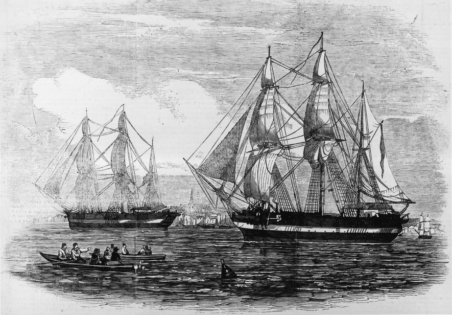 Le H.M.S. Terror et l'Erebus étaient des navires de la marine britannique ultramodernes en 1845, année ...