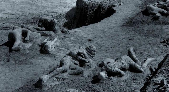 Les fugitifs pétrifiés de Pompéi