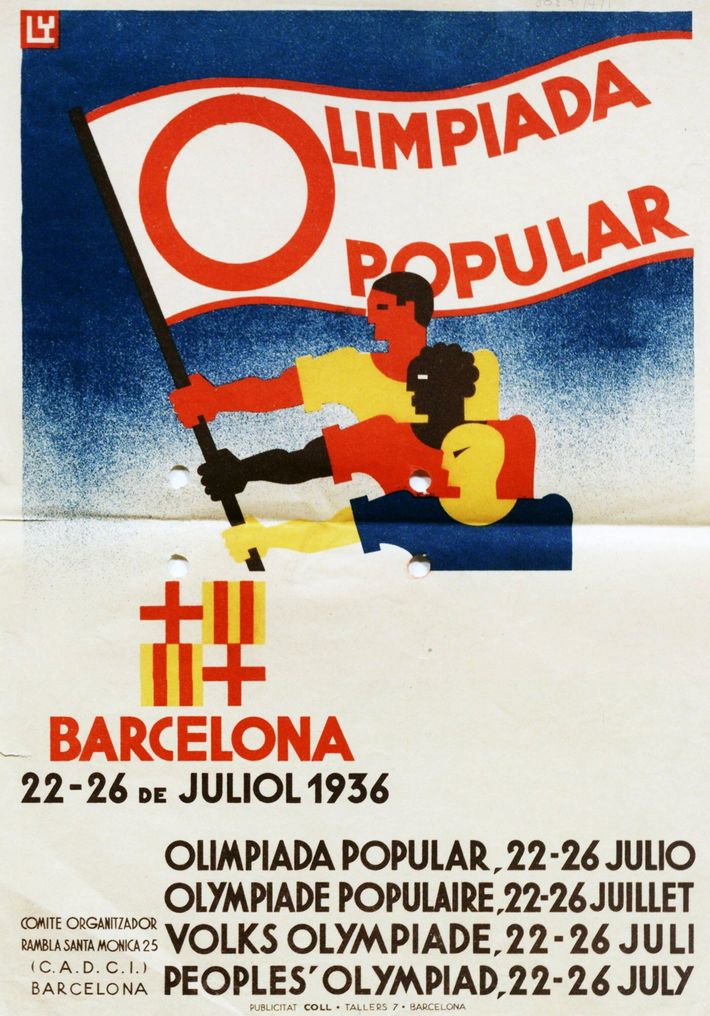 Poster for the Spanish bid for the 1936 Olympic Games.