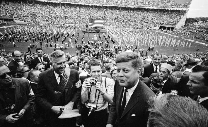 John F. Kennedy At Orange Bowl Stadium In 1963