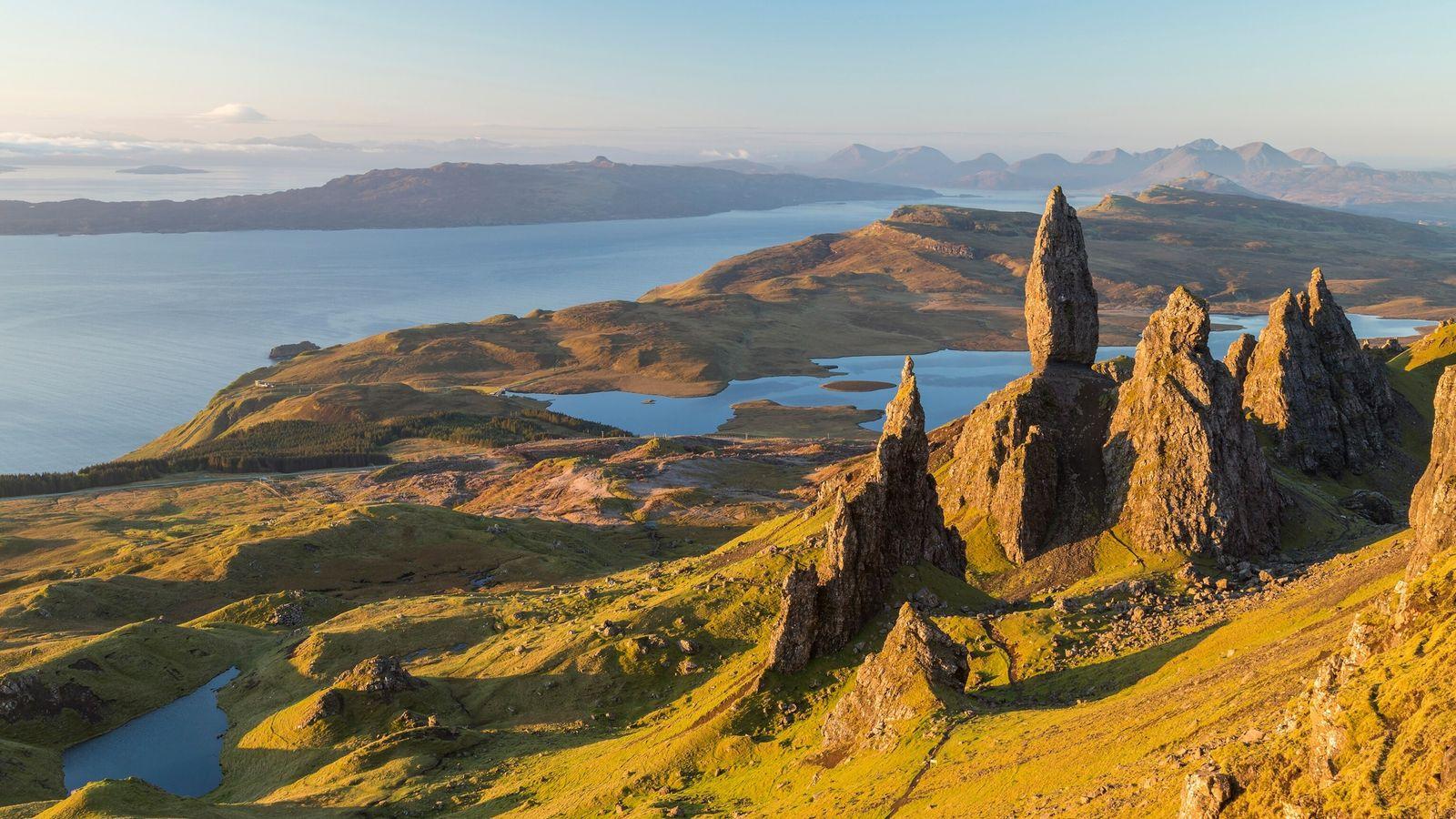 The Old Man of Storr. Trotternish. Isle of Skye. Scotland UK