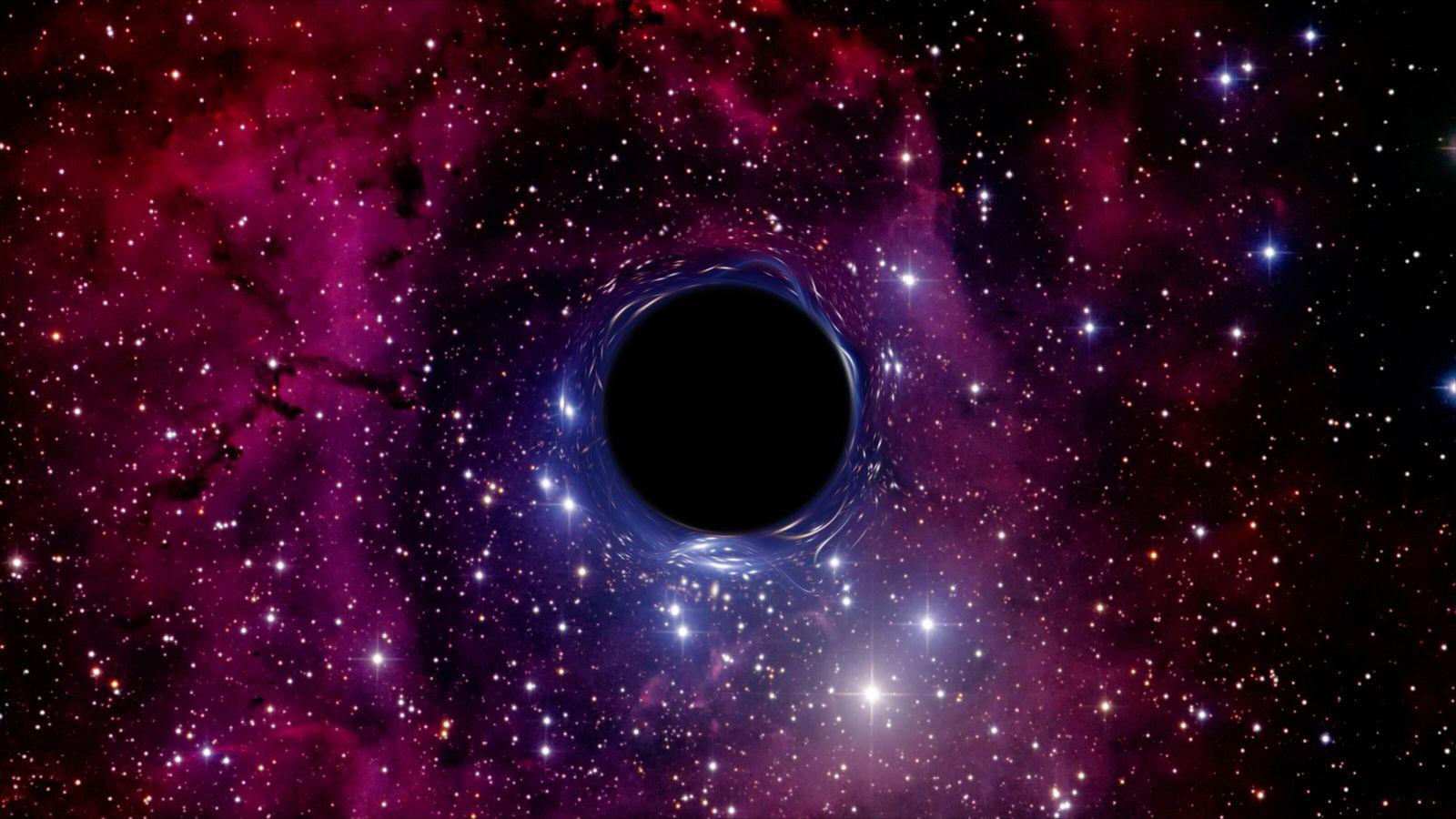 Représentation d'un trou noir.