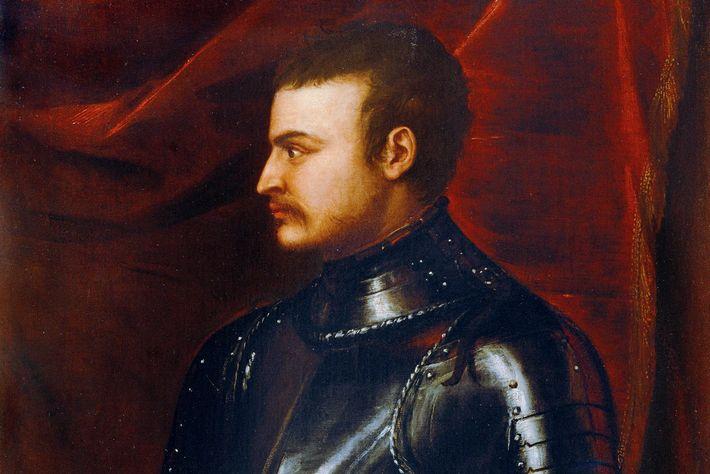Représenté ici dans un portrait de 1545, Jean, fils de Catherine et de Jean de Médicis, ...