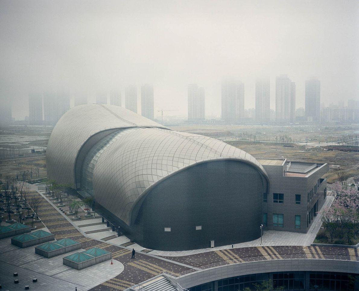 Image d'une grande structure en Corée du Sud