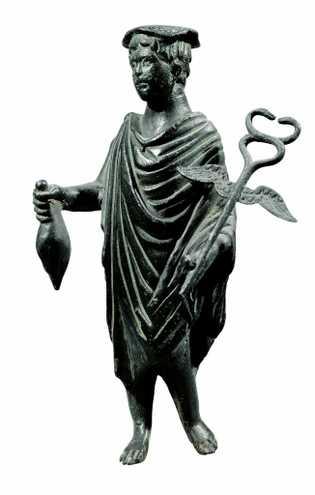 Mercure était le dieu des marchands, des banquiers et de voyageurs. Figurine en bronze datant du ...