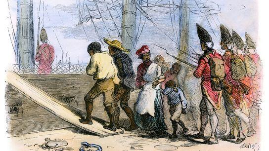 Pendant la révolution américaine, les esclaves africains fuyaient les plantations des colons patriotes sous la protection ...