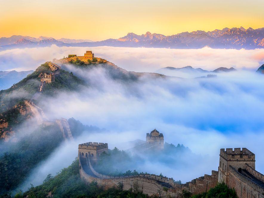 D'une longueur de plus de 8 050 kilomètres, la Grande Muraille de Chine a été bâtie ...