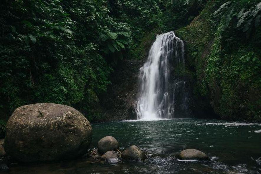 Les cascades situées dans les montagnes du coeur du l'île, dans la Grand Etang Forest Reserve, ...