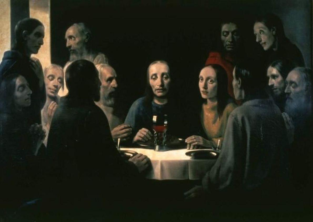 Cette contrefaçon du tableau de Vermeer, La Dernière Cène, a été réalisée par Han van Meegeren, ...