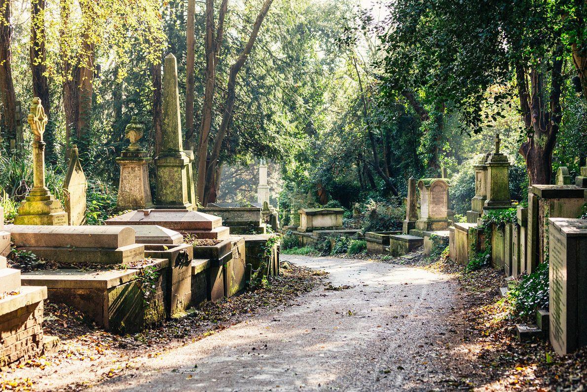 Cimetière de Highgate, Angleterre -La partie la plus intéressante de ce cimetière victorien à l'influence égyptienne ...