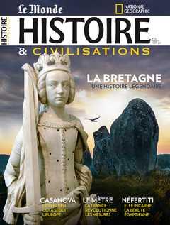 Couverture du magazine juillet-août 2021 du magazine Histoire et Civilisations.
