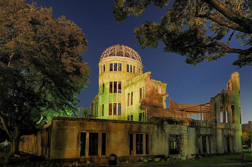 Le dôme de Genbaku était le seul édifice à être resté debout dans la zone où ...