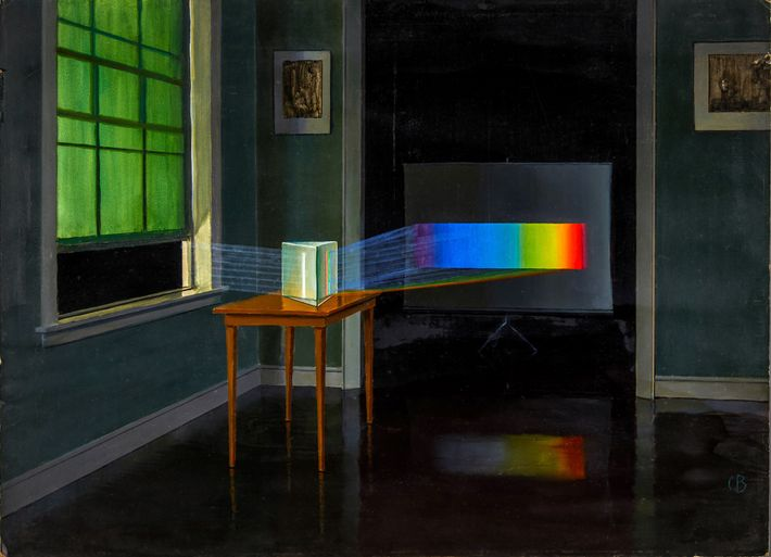 """""""La lumière, ici représentée dispersée en son spectre de couleurs, nous a appris presque tout ce ..."""