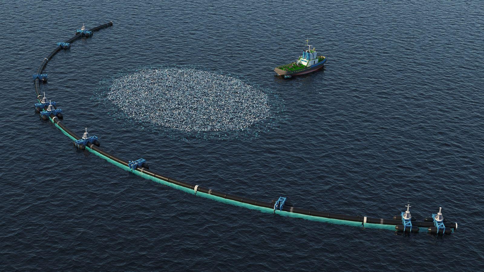 Une partie de Wilson, le système de nettoyage de The Ocean CleanUp s'est détachée du reste.