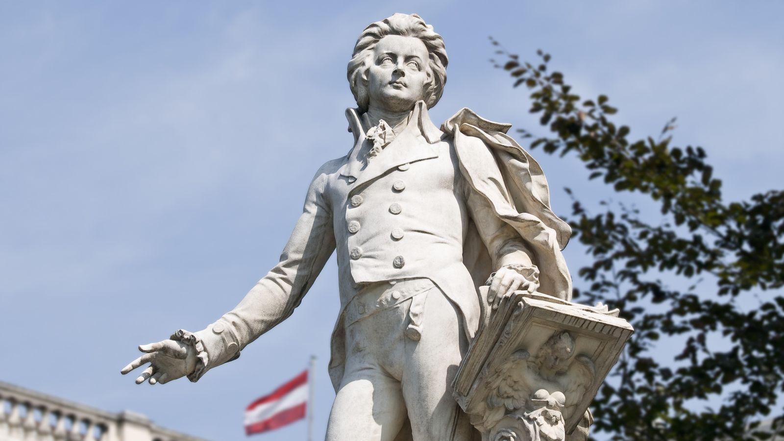 Statue représentant Mozart, à Vienne.