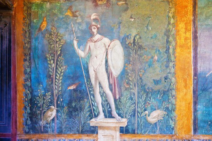 Peinture représentant Mars, à Pompéi.