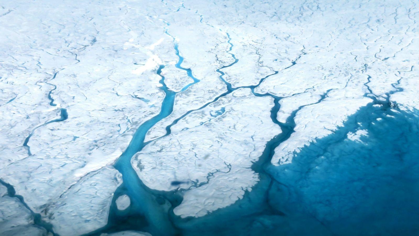 Calotte glaciaire au Groenland
