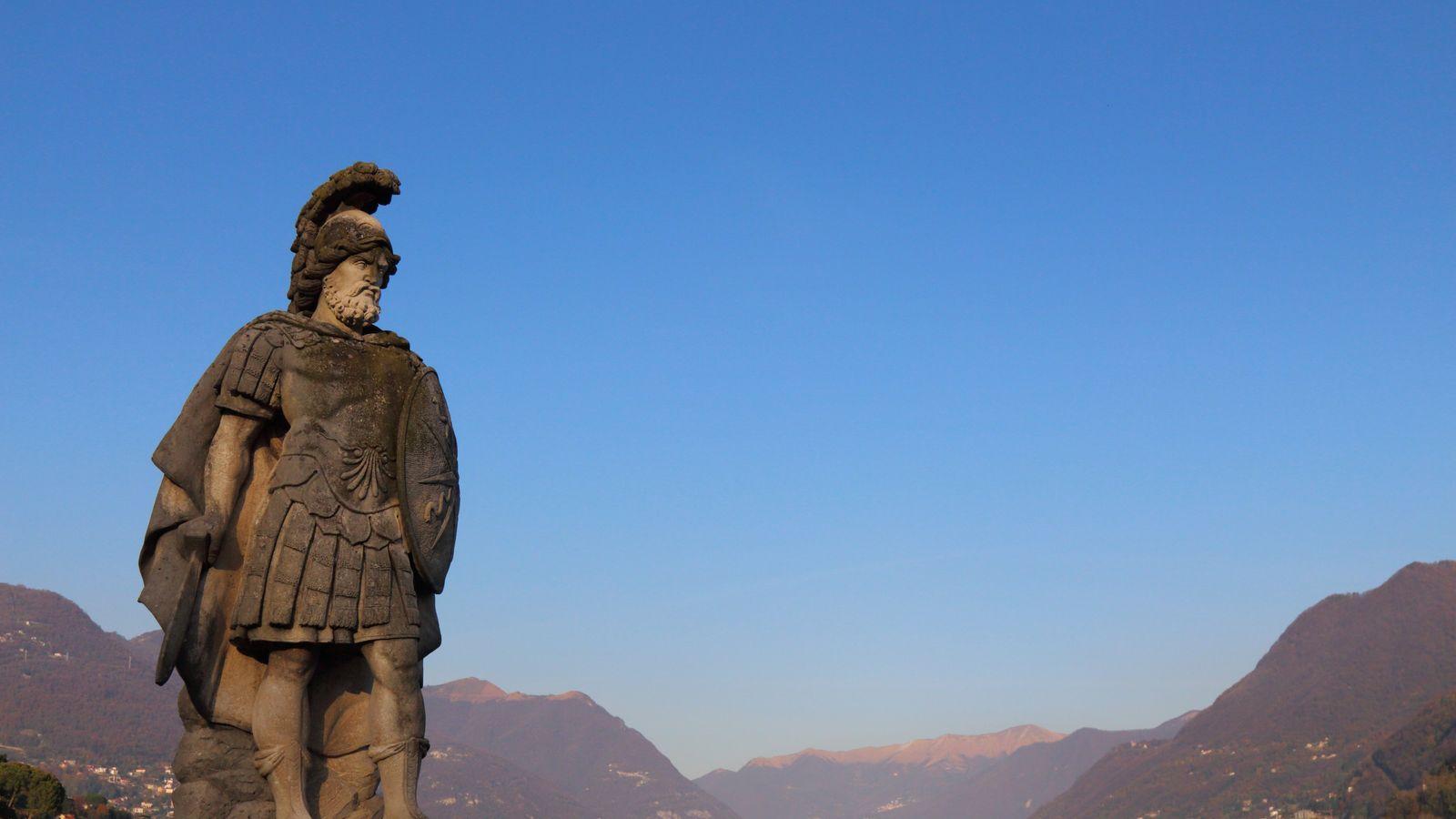 Statue de Mars, dieu de la guerre dans l'antiquité romaine.