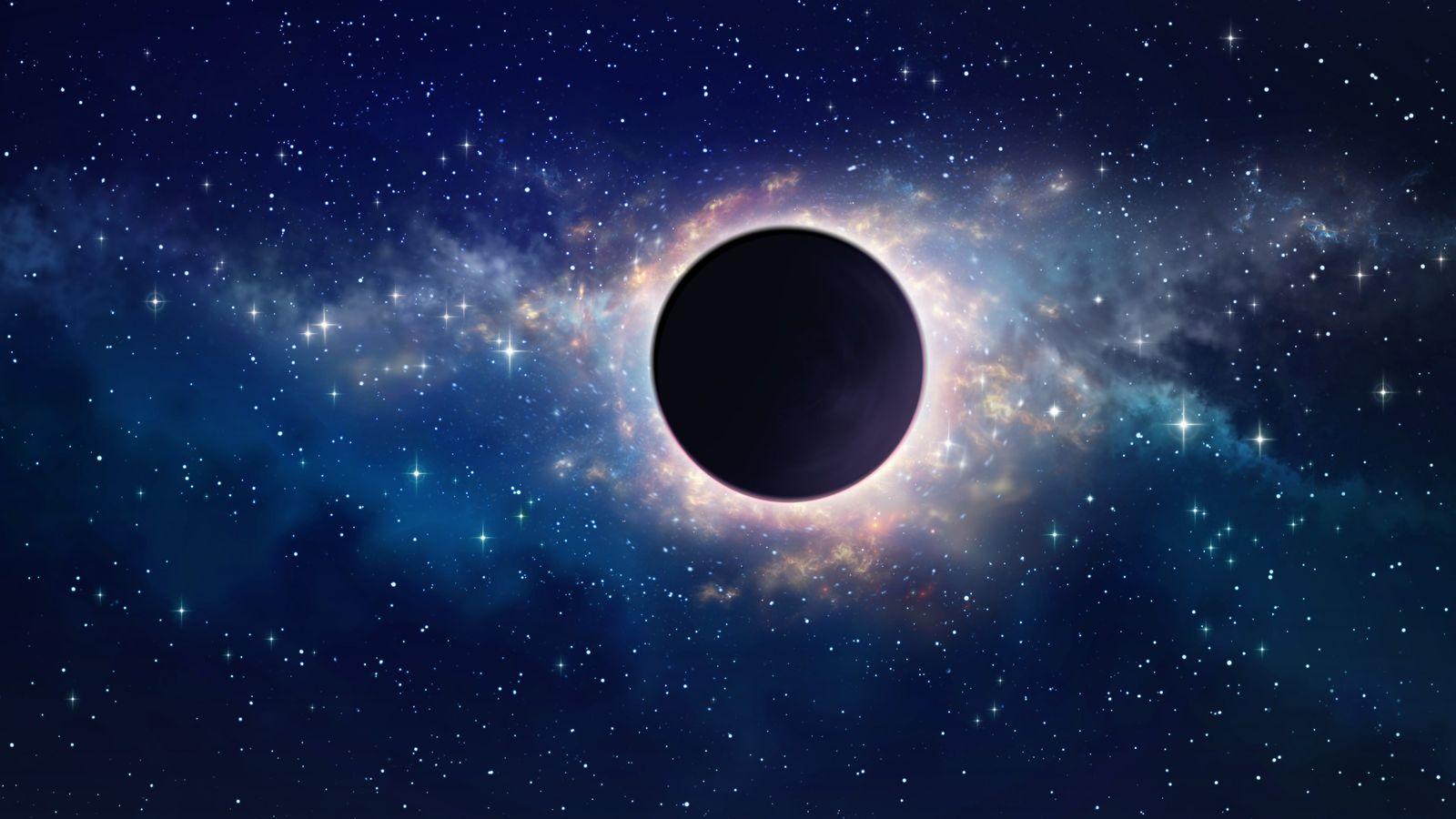 Représentation d'un trou noir dans l'espace
