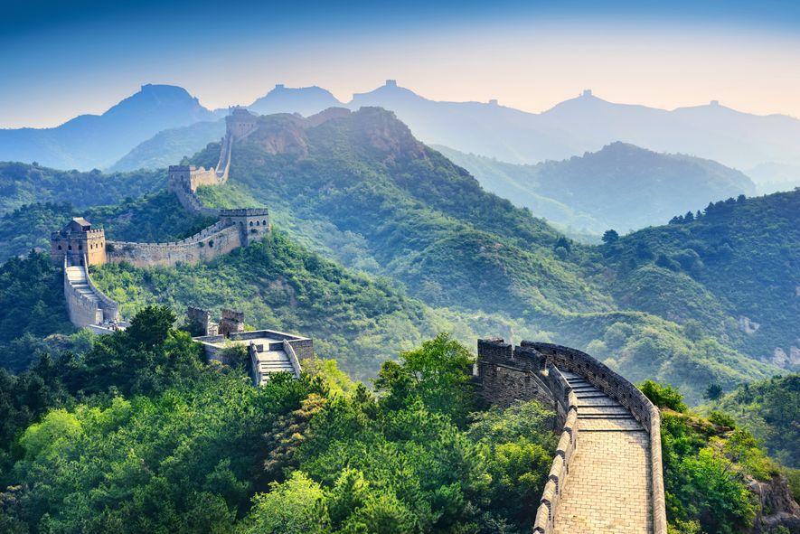 La grande muraille de Chine est la structure architecturale la plus importante jamais construite par l'Homme ...