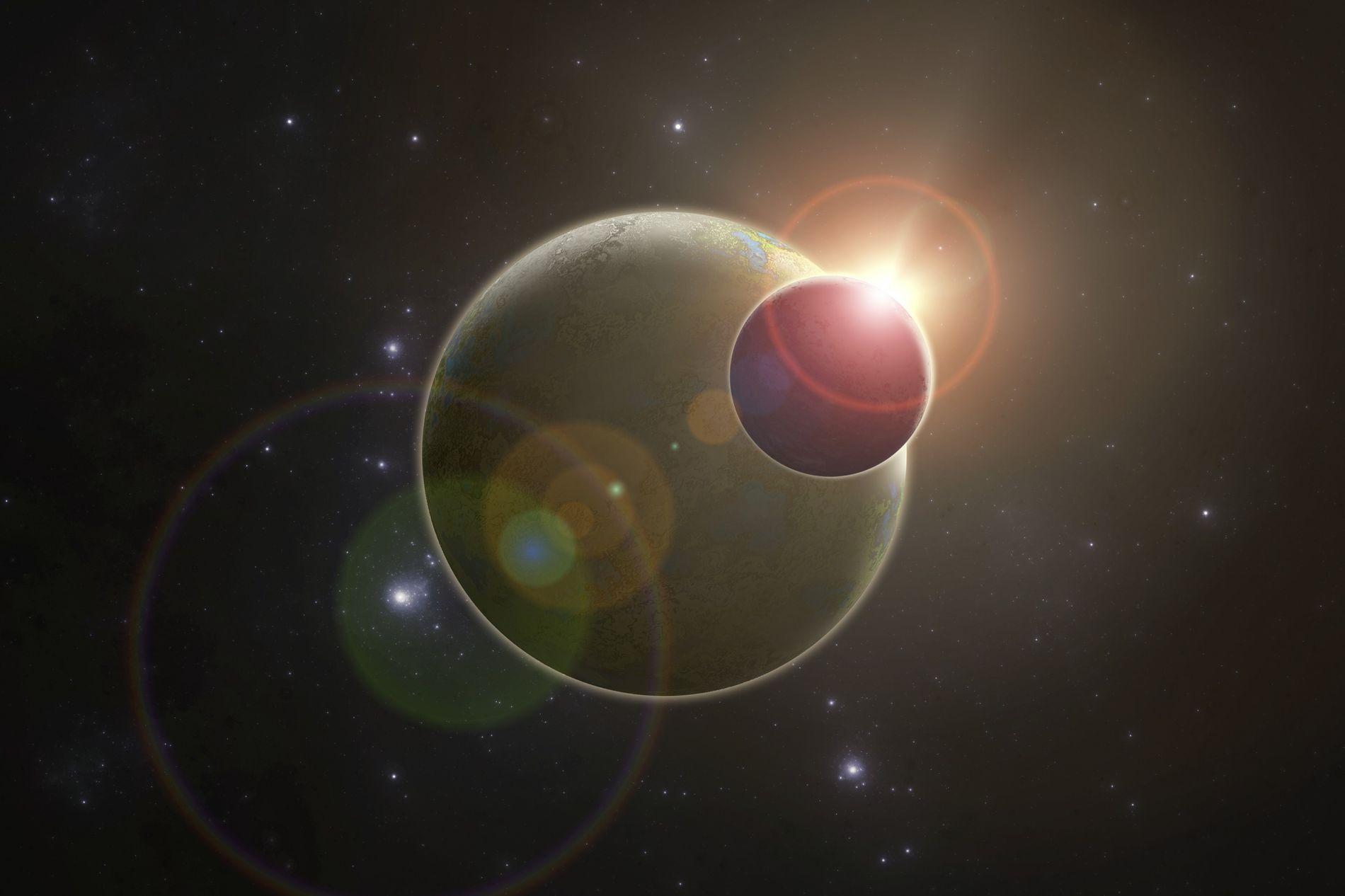 GI411b est très proche de son astre : la distance qui les sépare est de 0,08 ...