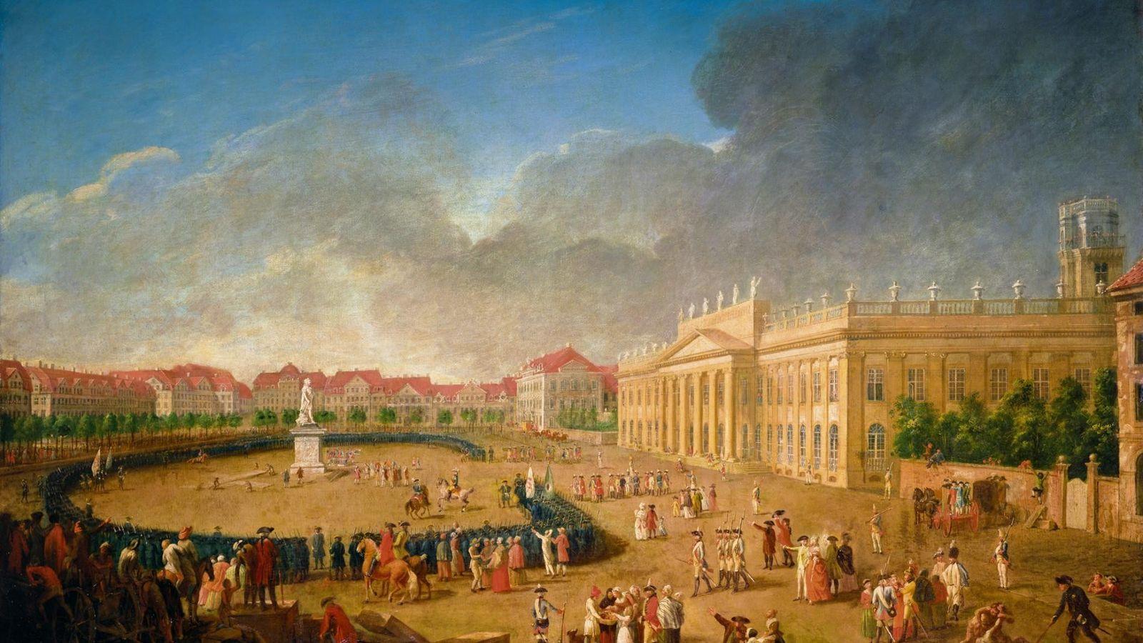 Cassel en 1783, la capitale de l'état protestant de Hesse, dont le prince Charles de Hesse-Cassel ...