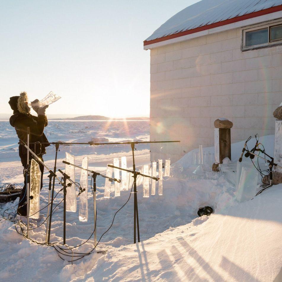 Norvège : des instruments de glace résonnent dans la nuit arctique