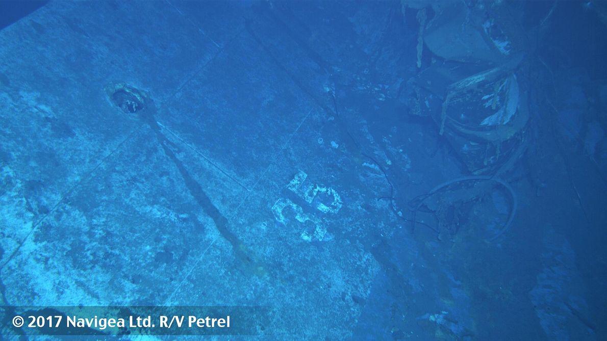 Sur cette image qui aurait été prise à bâbord du navire, on constate le numéro 35 …