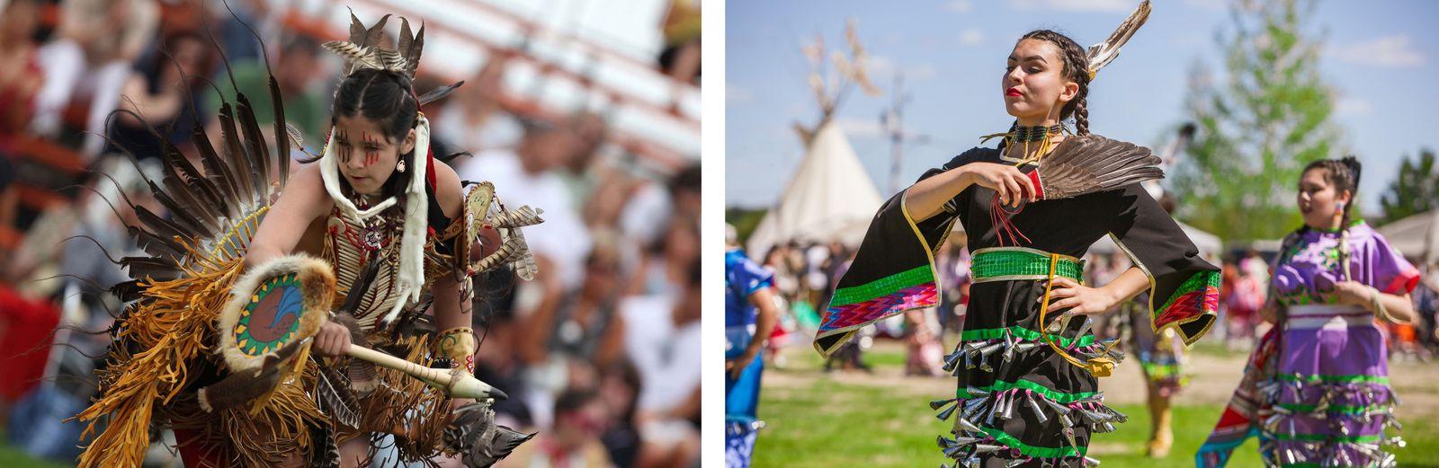 GAUCHE: Tout au long de l'été, les pow-wow célèbrent la culture des peuples autochtones à travers ...