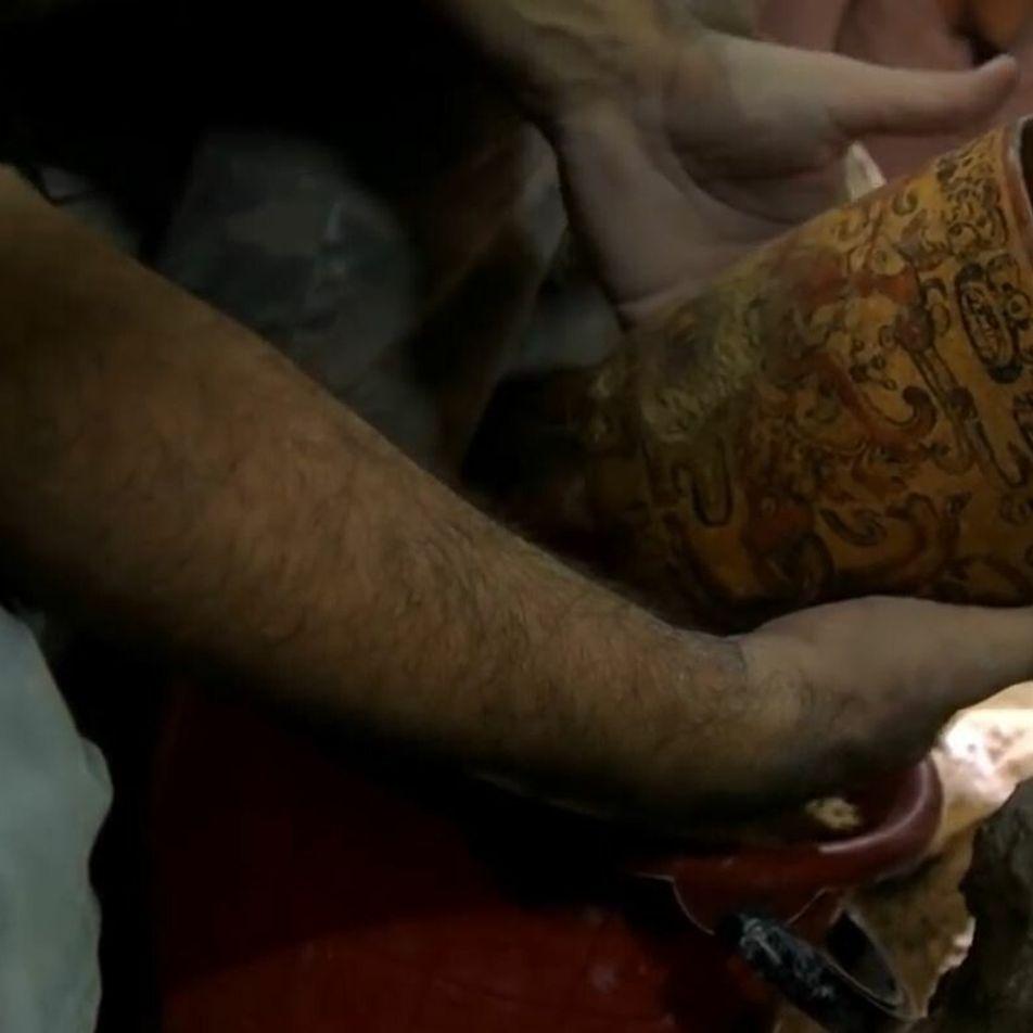 Découverte d'un inestimable trésor maya