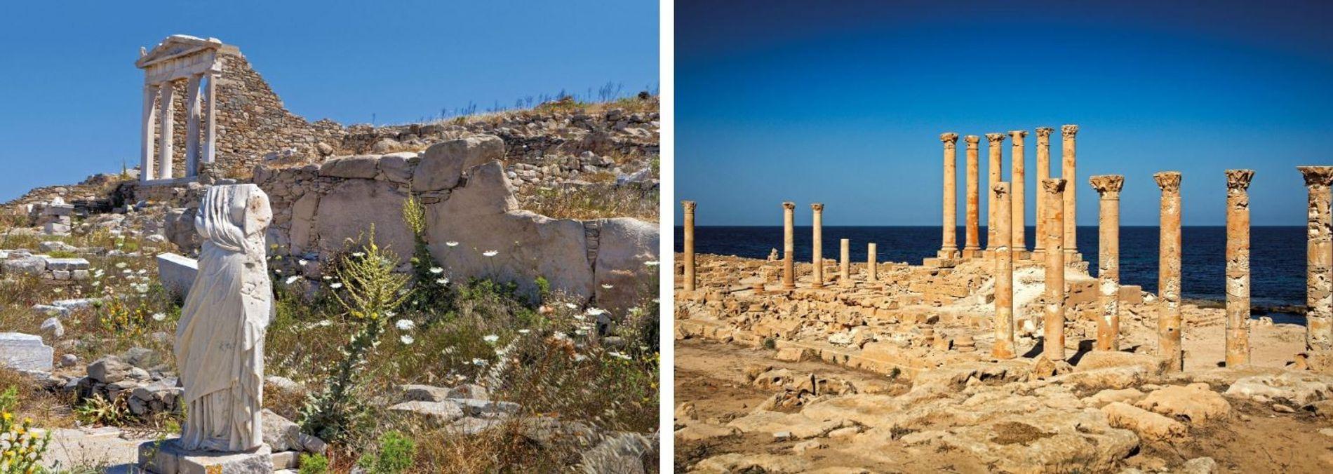 Avec la diffusion du culte d'Isis, de nouveaux temples lui étaient dédiés à travers le bassin ...