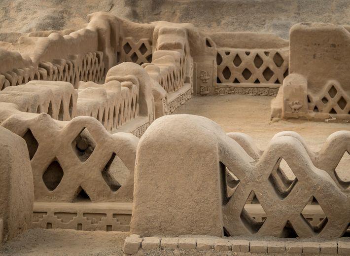 Ruines de Chan Chan, un site archéologique précolombien de la région de La Libertad, à 5 kilomètres à l'ouest de ...