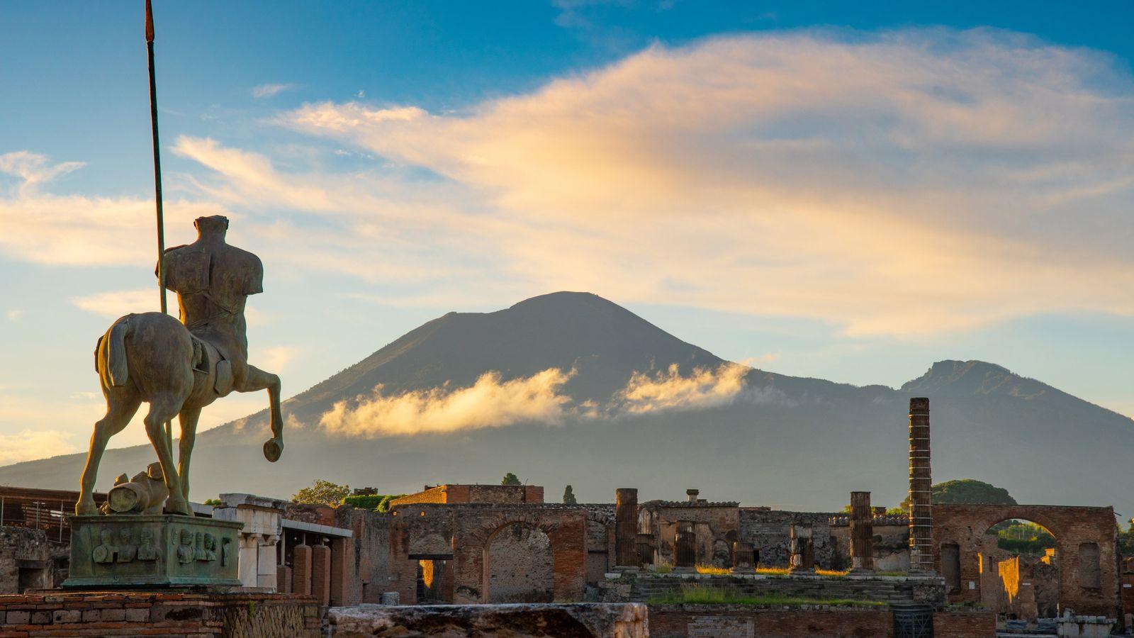 Le mont Vésuve et Pompéi