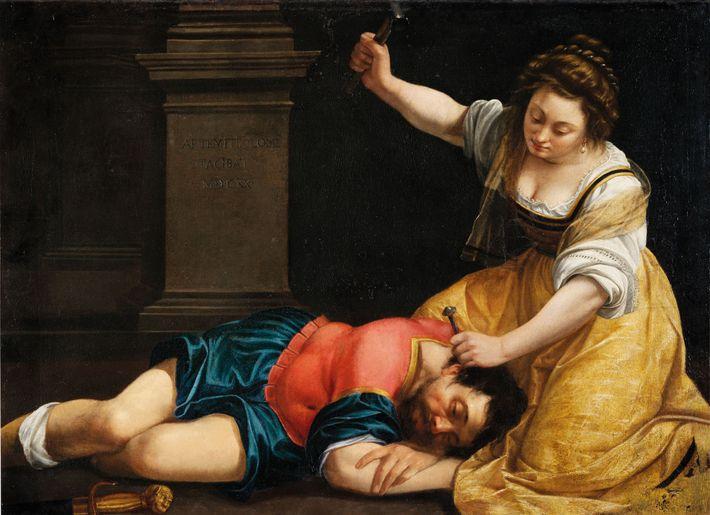 Ce tableau peint en 1620 par Artemisia Gentileschi s'inspire d'une scène du Livre des Juges dans ...