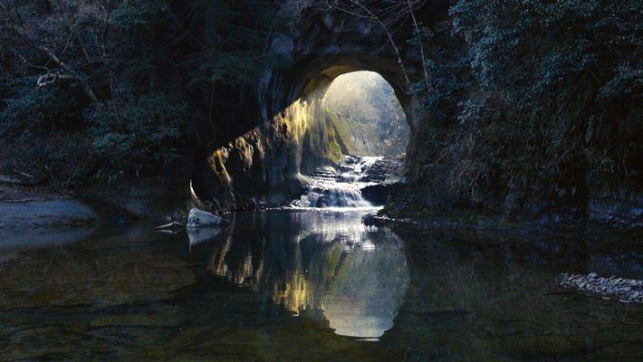 Cette cave japonaise est illuminée par un halo en forme de coeur