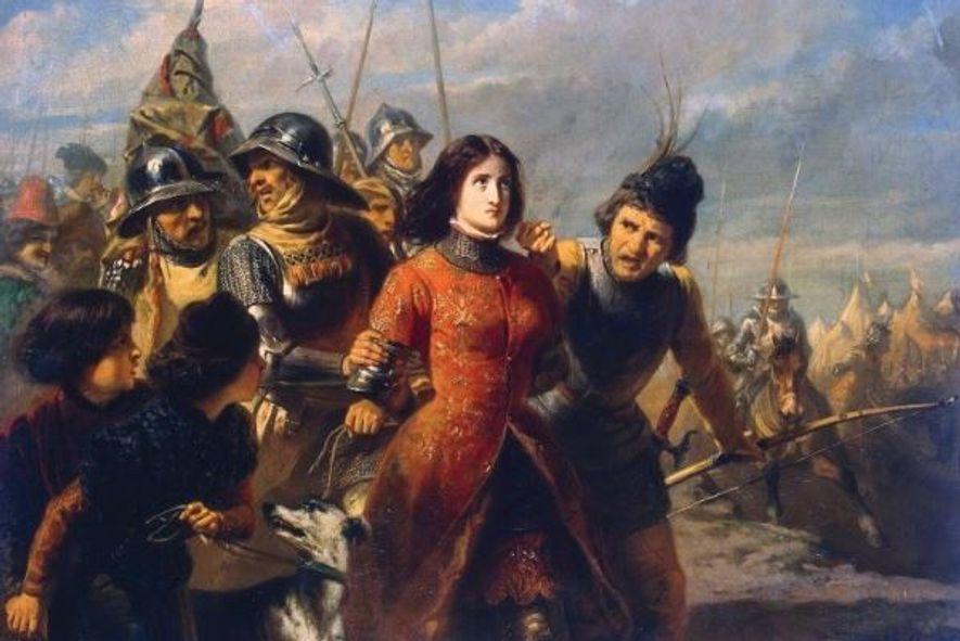 Huile sur toile représentant Jeanne d'Arc - Adolphe-Alexandre Dillens, 1847-1852. Musée de l'Ermitage, Saint-Pétersbourg, Russie