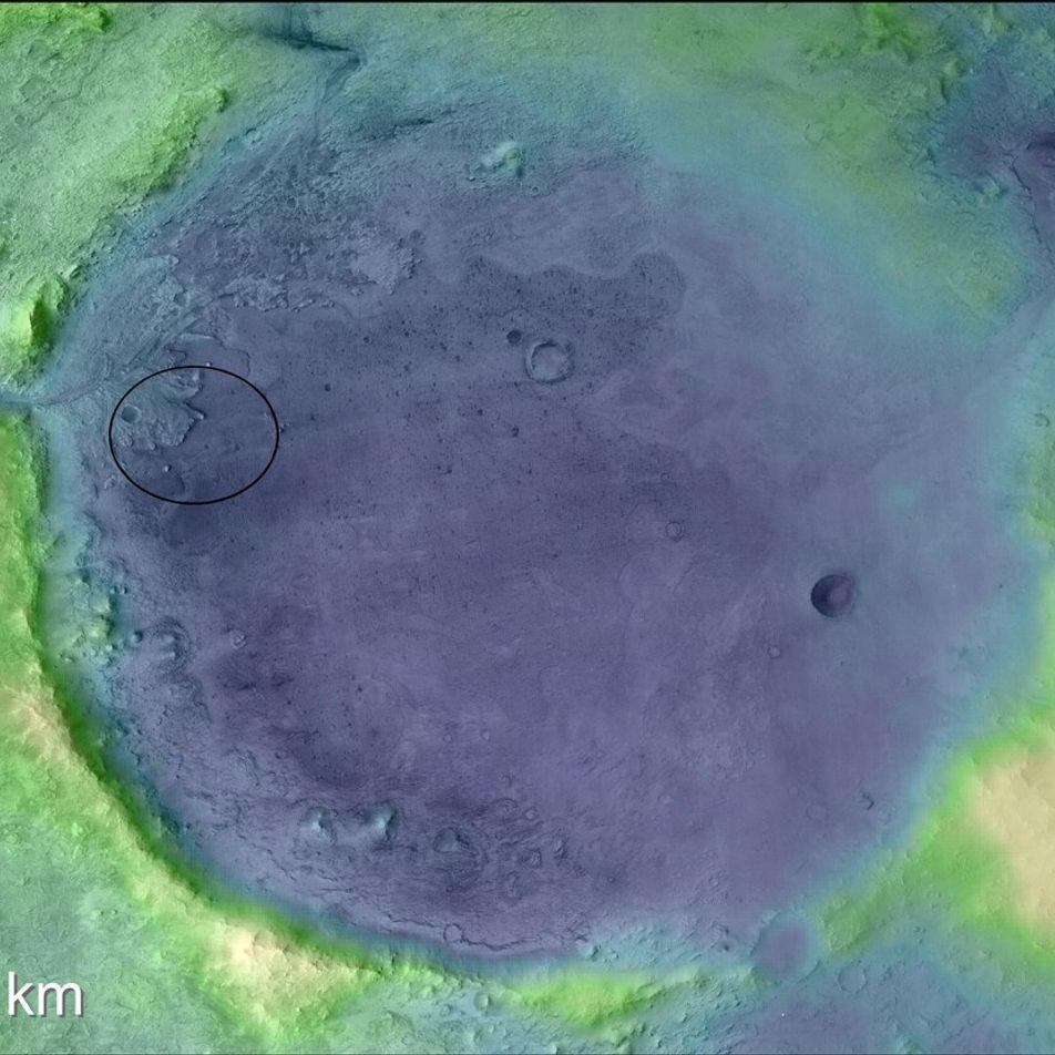 Mars : il y a 3,6 milliards d'années, ce cratère était un grand lac de 35 ...