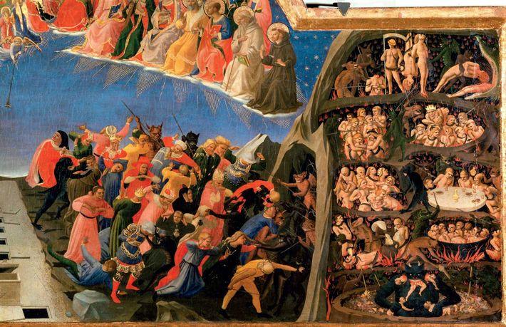 Fra Angelico, peintre du Quattrocento, offre un aperçu saisissant des visions de l'enfer dans son tableau ...