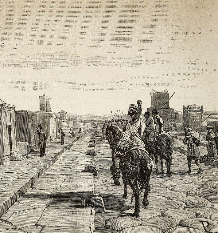 Jugurtha maudit Rome. Illustration du 20e siècle.