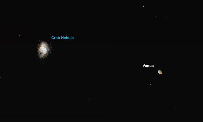 Le 26 juillet, Vénus passera tout près du rémanent de supernova le plus brillant de nos ...
