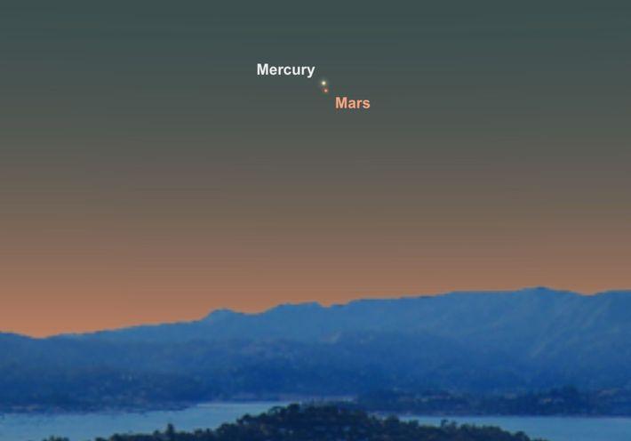 Le 18 juin, scrutez le ciel pour être témoin d'un intime rapprochement entre Mercure et Mars.