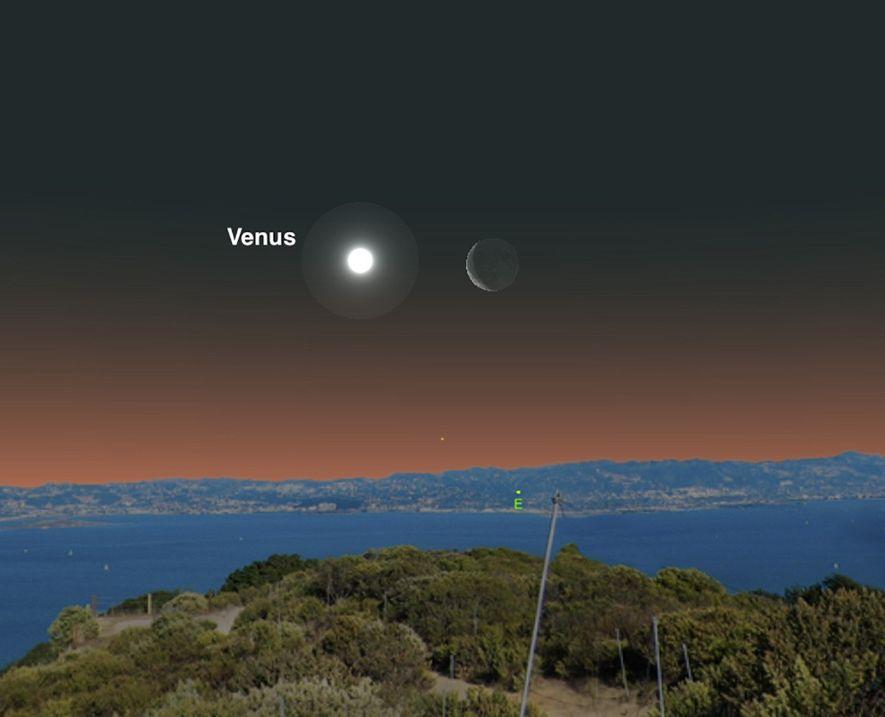 Le 20 juin, la brillante Vénus sera près de la Lune.