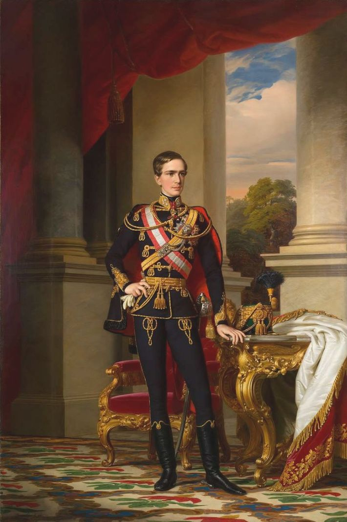 L'empereur François-Joseph Ier d'Autriche, représenté ici à l'âge de 23 ans.