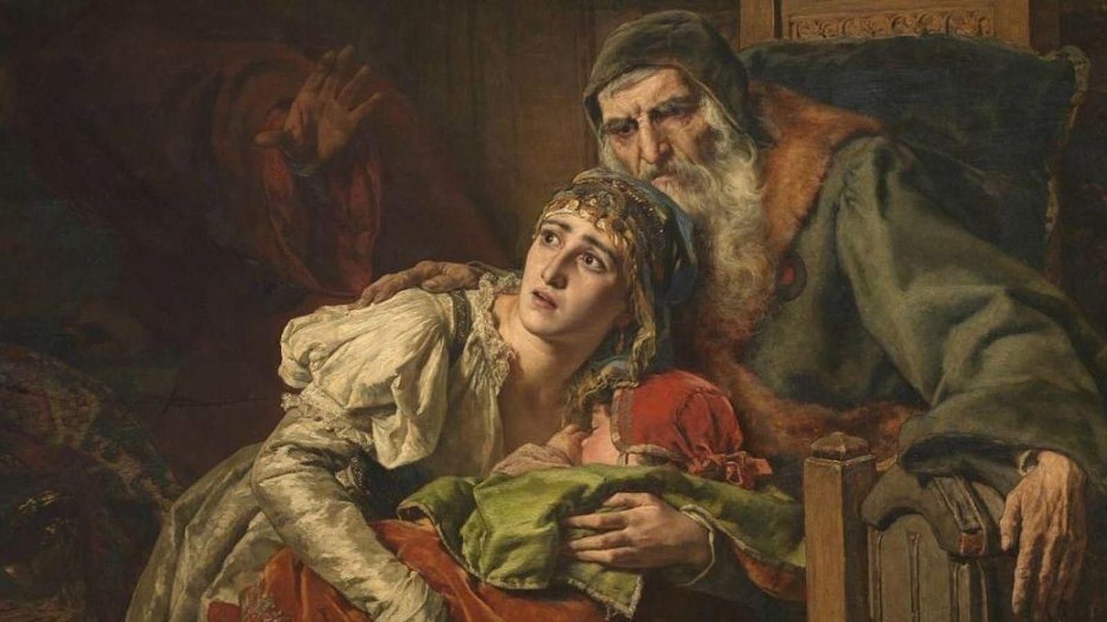 """""""Les juifs au Moyen Âge"""", tableau de Karel Ooms."""