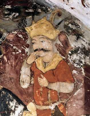 Cette peinture du 17esiècle représente KhosroII, le dernier des grands rois perses, qui envahit les terres ...